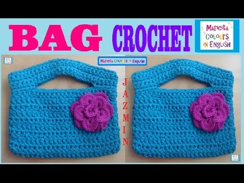 "Bag Purse Crochet Pattern ""Jazmín"" by Maricita Colours in ENglish"