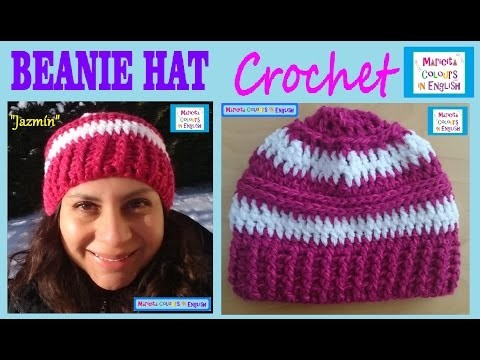 "Beanie Hat Free Crochet Pattern ""Jazmín"" by Maricita Colours in English"