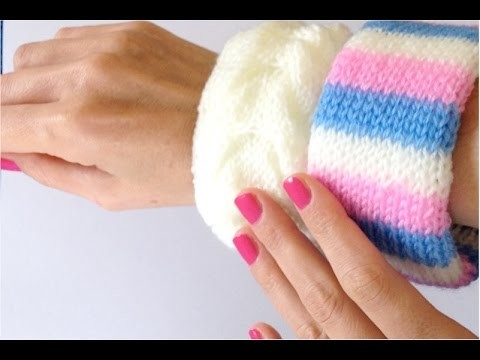 Crafts - How to make bracelets wool with three sorbets crafts for all