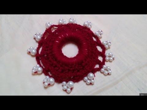 Creative Ideas : How to Make a Crochet Beaded Hair Elastic + Tutorial .