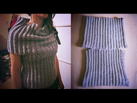 Crochet bulky  cowl vest