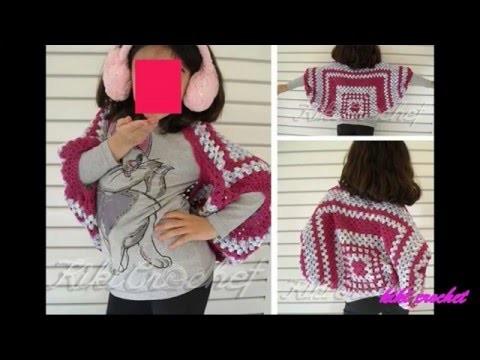 Crochet Granny Square Shrug (pt1- english tutorial)