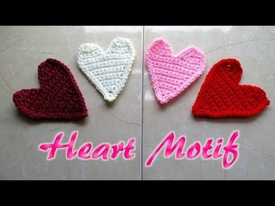 Crochet Heart Motif Applique - Valentine Crochet Tutorial