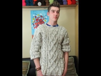 Crochet men's sweater part 1 of 3 - with Ruby Stedman