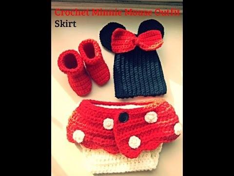 Crochet minnie mouse skirt for diaper
