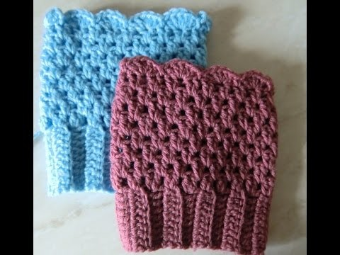 Crochet Pattern * EASY BOOT CUFFS *