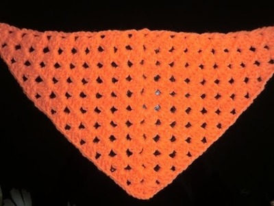Crochet Pattern *HALF GRANNY SQUARE SHAWL *
