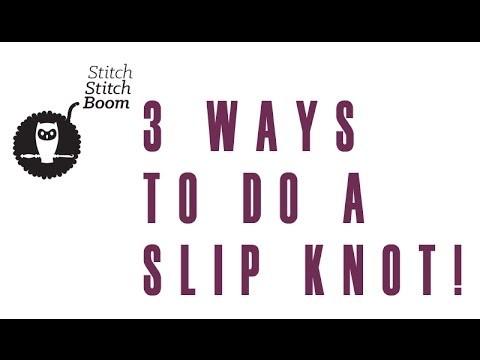 Crochet Quick Vid #3: Three ways to make a slip knot