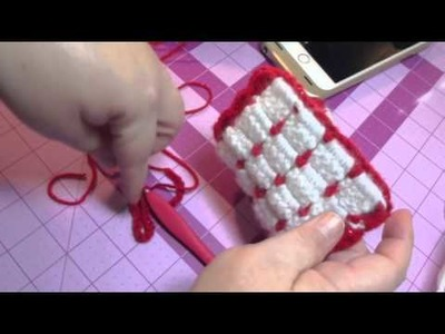 Crochet Tutorial: Christmas Gift Idea Series: Cell Phone Case. EyeGlass Case