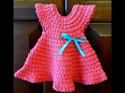 Crochet Tutorial - Crochet Baby Dress Patterns - Easy Crochet for Beginners
