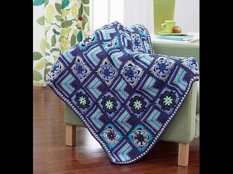 Crochet Tutorial - How To Crochet Bronwyn Afghan - Blanket.Afghan.Throw Crochet