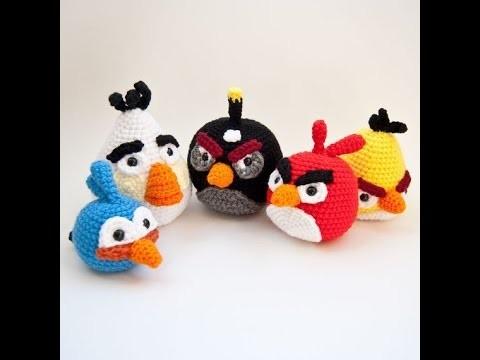 Crochet Tutorial - How to crochet Angry Birds - Amigurumi