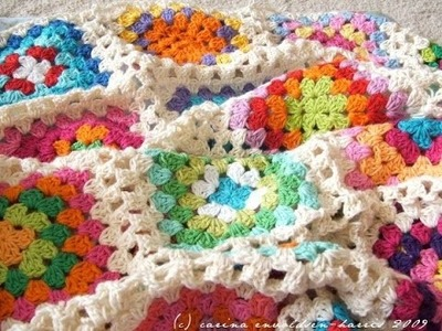 Crochet Tutorial - How to crochet Granny Square Blanket for beginners - Afghan.Throw Crochet