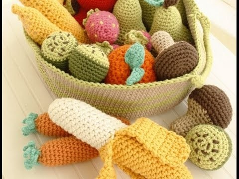Crochet Tutorial - How to crochet Fruits and Vegetables - Amigurumi