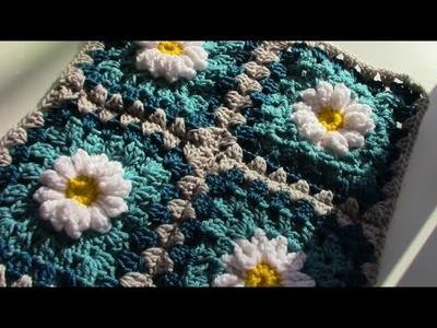 Daisy Granny square by Create Crochet