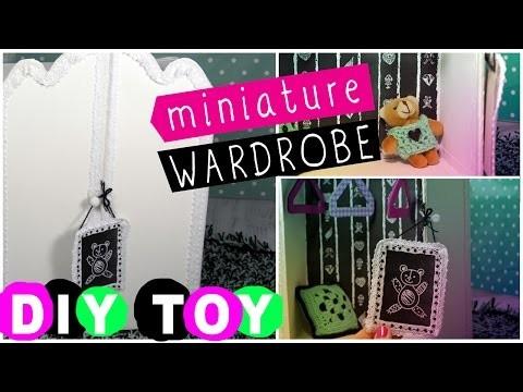 DIY toys for children Doll's wardrobe Teddy's wardrobe How to make toy furniture
