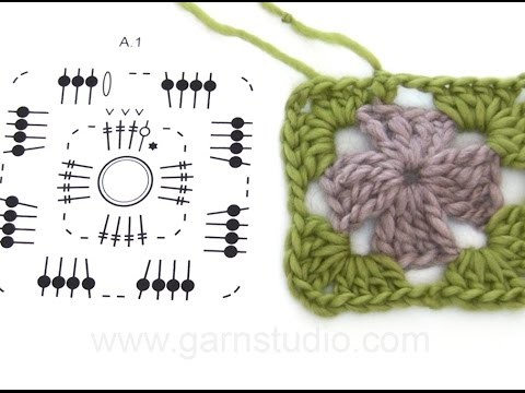 DROPS Crocheting Tutorial: How to work a basket with zig-zag pattern and reverse double crochet