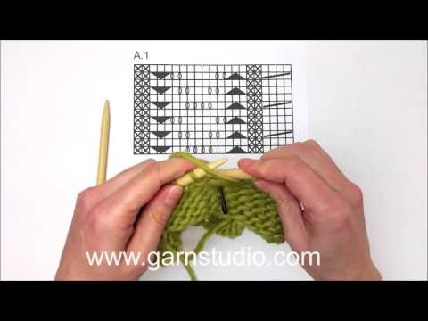 DROPS Knitting Tutorial - How to work chart A.1 in 159-29