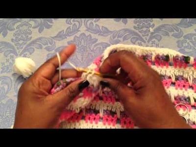 How to crochet 2 rows below-Herringbone pattern