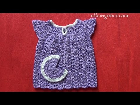 How to crochet a baby dress - Pattern 2 (engsub)