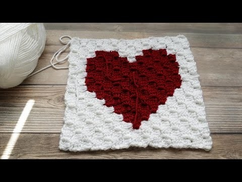 How To Crochet A C2c Corner To Corner Heart Square