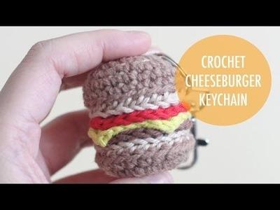 How to Crochet a Cheeseburger Keychain - Tutorial