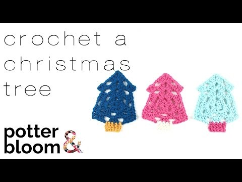 How to crochet a Christmas Tree decoration