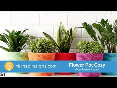 How to Crochet A Flower Pot Cozy