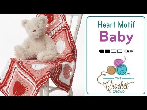 How to Crochet A Heart Square: Granny Square