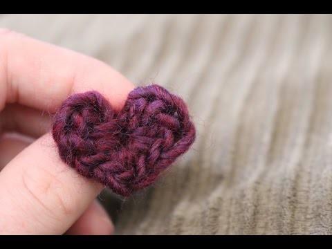 How to Crochet a Mini Heart