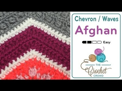 How to Crochet A Wave Afghan: Herringbone Stitch Wave