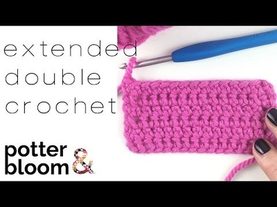 How to crochet an extended double crochet - UK