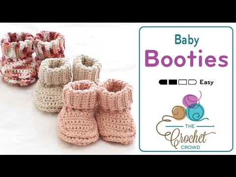 How to Crochet Baby Booties: Rolled Down