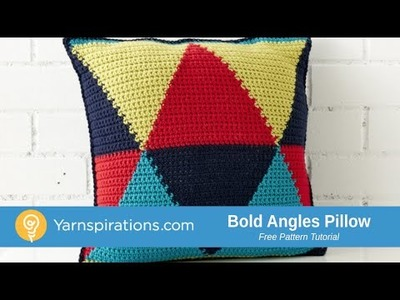 How to Crochet Bold Angles Pillow