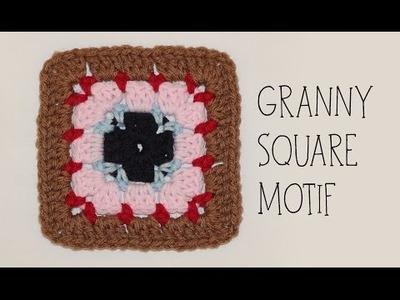 How To Crochet Granny Square Motif #1