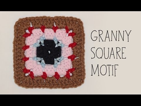 How To Crochet Granny Square Motif #1