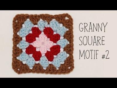 How To Crochet Granny Square Motif #2