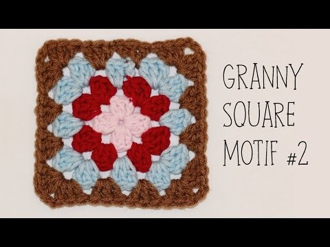 How To Crochet Granny Square Motif #2