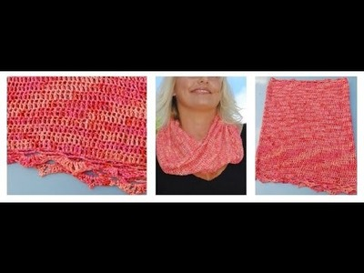 How to Crochet Lace Edging on London Cowl