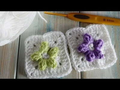 How to Crochet Popcorn Flower Granny Square