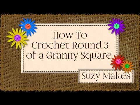 How to Crochet Round Three of a Granny Square