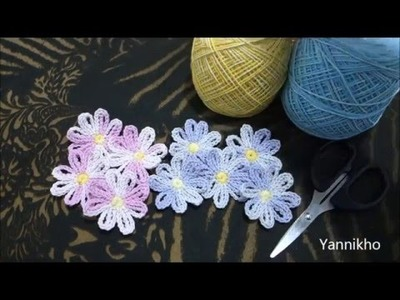 How to Crochet Simple Flower - Cara Merajut Bunga