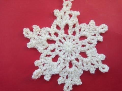 How to crochet snowflake