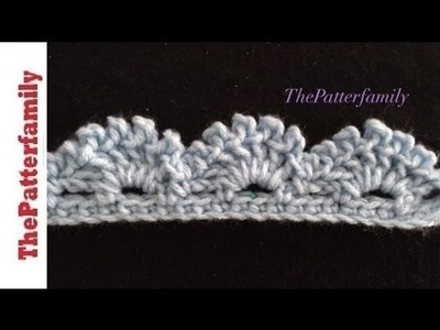 How to Crochet the Edge. Border. Trim Stitch Pattern #40│by ThePatterfamily
