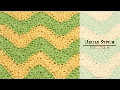 How To: Crochet The Ripple (Chevron) Stitch