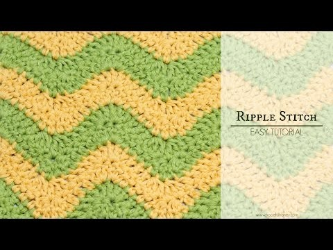 How To: Crochet The Ripple (Chevron) Stitch