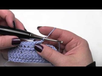 How to Crochet:  Twisted Single Crochet (Left Handed)