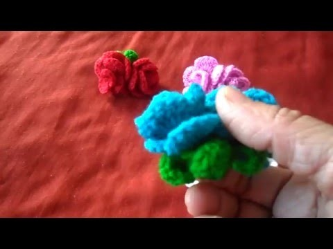 How  to Crochet  Valentine Lovers Rose D I Y-2016