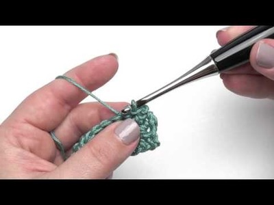 How to Crochet: Working Into a Slip Stitch (Right Handed)