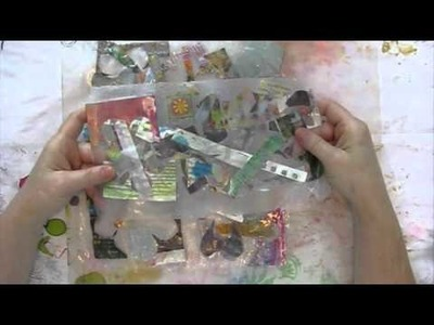 How to Fuse Cereal bags for Art Journal Backgrounds